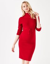 Mama Licious Mamalicous Maternity Long Sleeve Knitted Roll Neck Dress