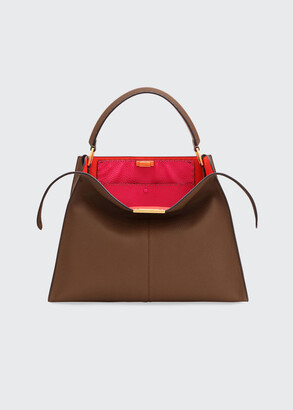 Fendi Peekaboo X-Lite Calf Satchel Bag
