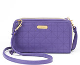 Buxton Diamond Quilted Double-Zip Clutch