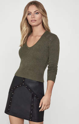 BCBGMAXAZRIA Faux Leather Mini Skirt