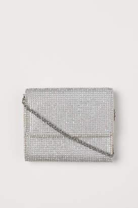 H&M Mini Bag with Rhinestones - Silver