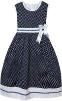 Richie House Girls' Summer Dress with White Dots and Ribbon RH0317-B-11/12