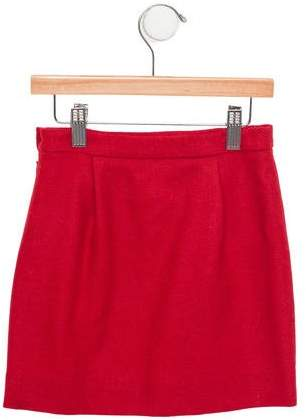 Papo d'Anjo Girls' Wool Pleated Skirt