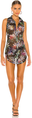 Kim Shui Sheer Tropic Mesh Mini Dress