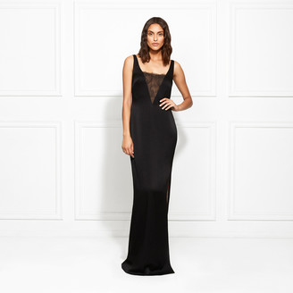 Rachel Zoe Caine Satin-Backed Crepe Gown