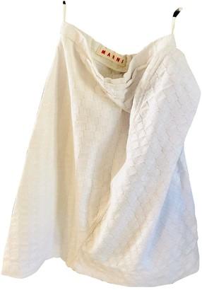 Marni White Cotton Skirt for Women Vintage