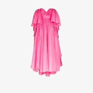 Carolina Herrera sweetheart ruffled silk gown