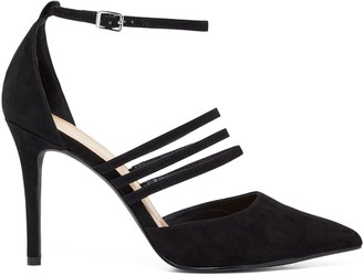 Forever New Rae Three-Strap Pointed Court Heels - Black - 37