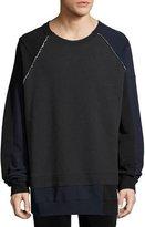 Maison Margiela Mélange Colorblock Sweatshirt, Dark Gray