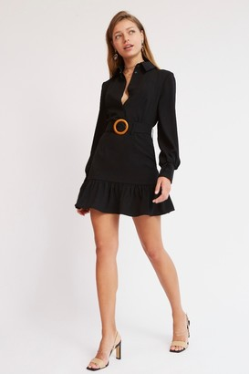 Finders Keepers SYLVIE LONG SLEEVE MINI DRESS Black