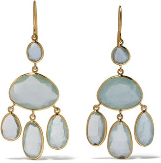 Pippa Small 18kt yellow gold Glacier Baby Jellyfish aquamarine earrings