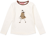E-Land Kids Ivory Leopard Girl Tee - Toddler & Girls