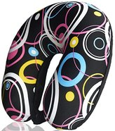 Microbeads Neck Pillow for Kids & Adults - Microbead Travel Neck Pillow for Sleeping and Cervical Support Black Color