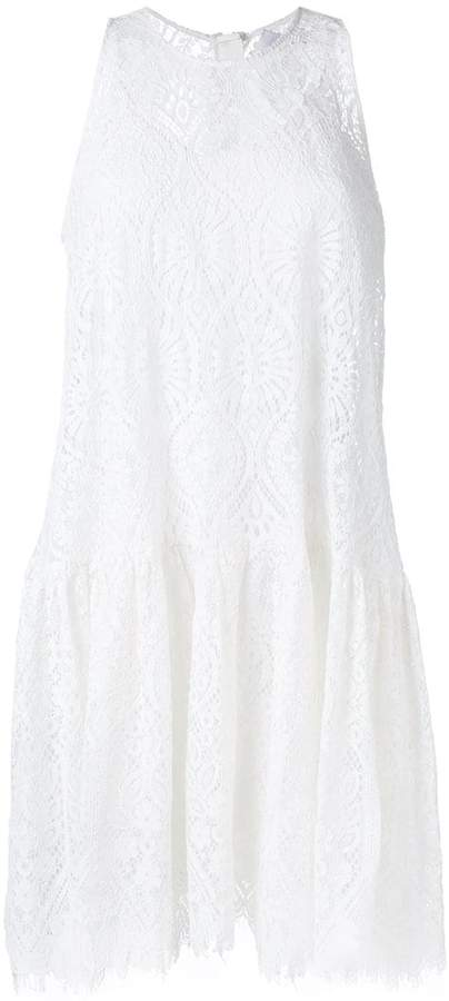 MSGM sheer detail flared dress