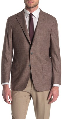 Hickey Freeman Weightless Tan Solid Two Button Notch Lapel Suit Separates Jacket
