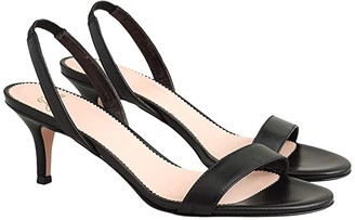 J.Crew Leather Simple Slingback Nan Sandal (Black) Women's Shoes
