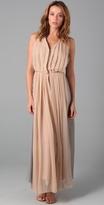 Porter Grey Pleated Long Dress