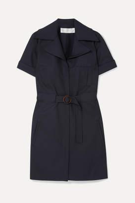 Victoria Victoria Beckham Victoria, Victoria Beckham - Belted Twill Mini Dress - Navy