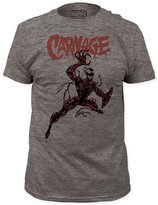 Impact Carnage Marvel Comics Action Pose Adult Tri-Blend Jersey T-Shirt Tee