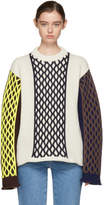 J.W.Anderson Off-White Contrast Cable Knit Sweater