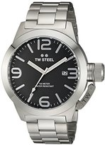 TW Steel Men's CB2 Analog Display Quartz Silver Watch