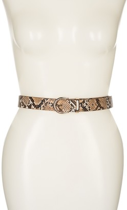 Linea Pelle Snakeskin Printed Keeper Belt