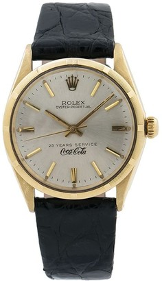 """Rolex 1960s pre-owned Oyster Perpetual """"25 Years Service Coca-Cola"""" 34mm"""