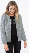 Esprit OUTLET edc loop knit cardigan with wool blend