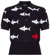 Thom Browne Shark Knit Polo Shirt