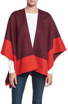 Rag & Bone Double-Face Colorblock Merino Wool Wrap, Berry