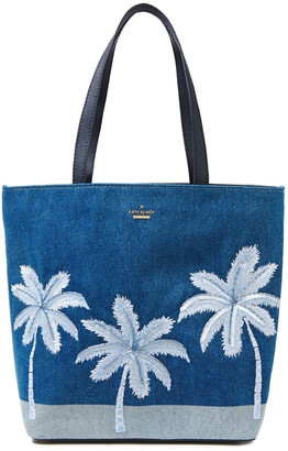 Kate Spade California Dreaming Hattie Embroidered Denim Tote