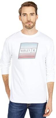 Hurley East Cape Long Sleeve (White) Men's T Shirt