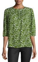 Michael Kors Floral-Print Silk Top