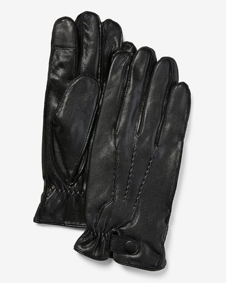 Express Genuine Leather Touchscreen Compatible Gloves