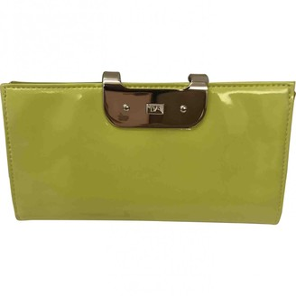 Diane von Furstenberg Green Patent leather Purses, wallets & cases