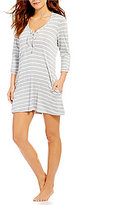 Kenneth Cole Reaction Skyline Stripe Long Sleeve Tunic Cover-Up