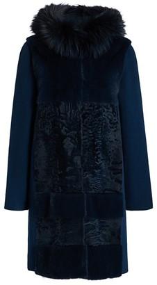 Astrakhan Manzoni 24 For The Fur Salon & Fox Fur-Trim Mink, Wool & Cashmere Coat