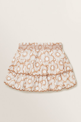 Seed Heritage Shirred Floral Skirt