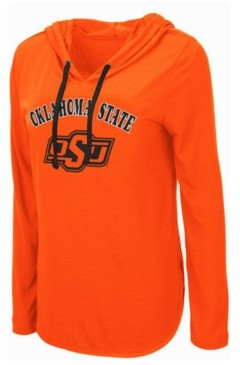 Colosseum Women's Oklahoma State Cowboys Lightweight Hooded Long Sleeve T-Shirt
