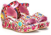 Dolce & Gabbana 'Carretto Con Rose' sandals - kids - Leather/Viscose/rubber - 30