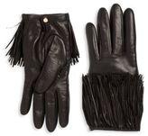 Portolano Fringed Leather Gloves