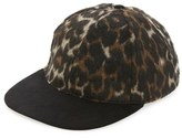 Topman AAA Collection Leopard Print Snapback Cap