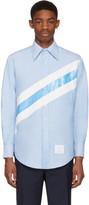 Thom Browne Blue Diagonal Stripe Classic Shirt