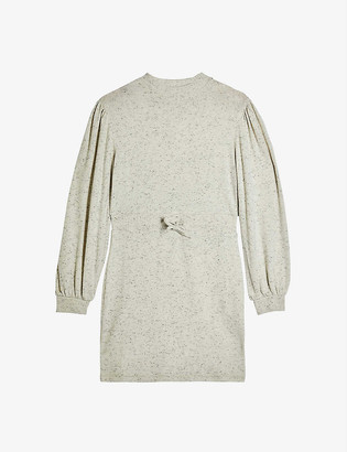 Topshop Round-neck cotton-jersey sweatshirt dress