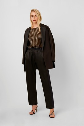 French Connection Safiana Silk Jogger