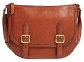 Frye Claude Leather Crossbody Bag - Grey