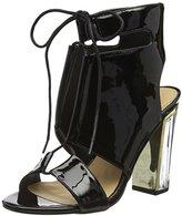 boohoo Women's Paige Clear Heel Lace up Shoe Boot Open Toe Sandals,36 EU