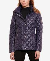 Lauren Ralph Lauren Faux-Suede-Trim Packable Puffer Coat