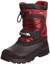 Trespass Kids Kukun Snow Boot, Black (Red)