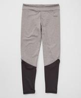Reebok Black & Gray Leggings - Girls